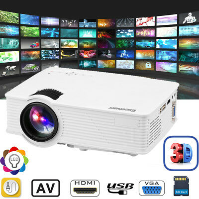 EHD09 3000 Lumens 3D 1080P LED Vidéo Projecteur Multimédia HDMI/USB/SD/AV NEW FR