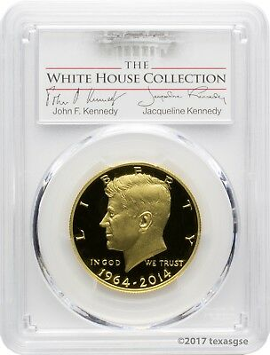 2014-W 50th Anniversary Kennedy Gold Half-Dollar PCGS PR70DCAM - White House