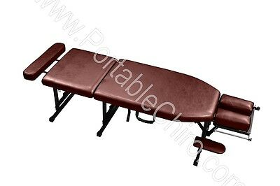 Standard Portable Chiropractic Table - Burgundy