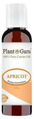 Apricot Kernel Oil 2 oz. 100% Pure Organic Seed Carrier For Skin, Hair, Face