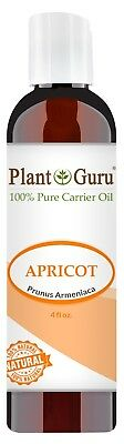Apricot Kernel Oil 4 oz. 100% Pure Organic Seed Carrier For Skin, Hair, Face