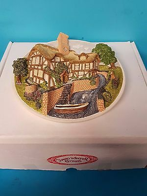 On the Riverbank David Winter Cottages Boxed Collector's Piece Plaque