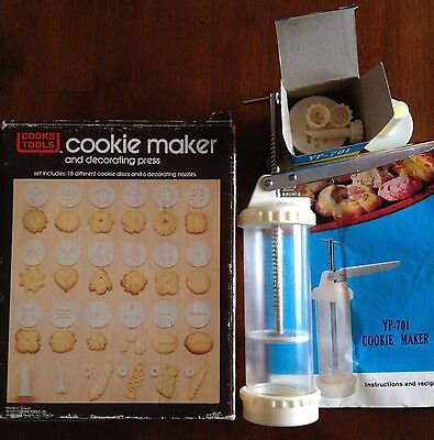 Cooks Tools Vintage Cookie Maker and Decorating Press