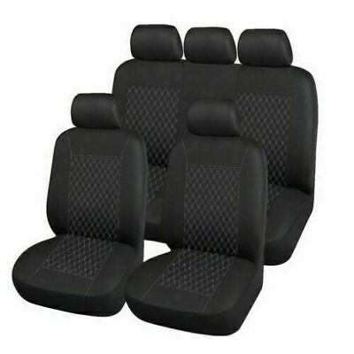 LUXURY LEATHER LOOK FULL SEAT COVER SET BEIGE For LAND ROVER FREELANDER 1 AND 2