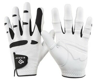 Bionic Men's Stablegrip Natural Fit Left Hand White Golf Glove - New Pick Size!!