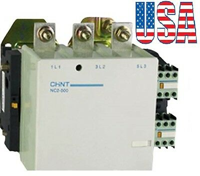 New Telemecanique Contactor LC1-F500 Replacement For Chint NC2-500 3Pole 500Amp.
