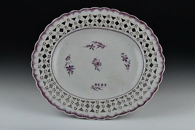 18th Century Chinese Export Reticulated Porcelain Platter