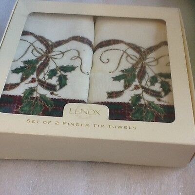 New Lenox Nouveau Set of 2 Finger Towels