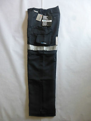 Hi-Vis work pant All season Navy with 3M reflective material
