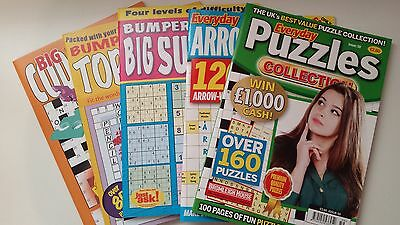 5 x Assorted Puzzle Books - Everyday Puzzles - NEW