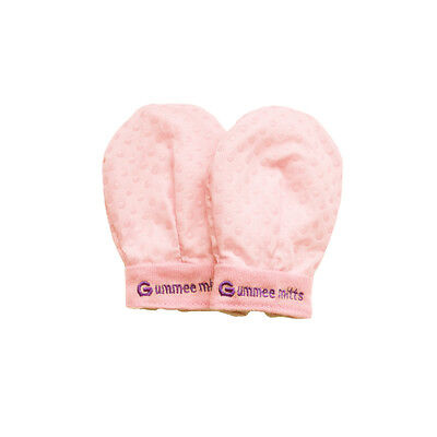 Award Winning My First Gummee Glove Anti Scratch Teething Mittens - Baby Pink