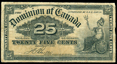 1900 Canada  25 Cents