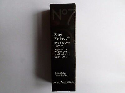 No7 Stay Perfect Eye Shadow Primer 10ml  New/Boxed