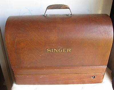 SINGER Model 99 SEWING MACHINE 1920s/30s w/ Bentwood Case and Knee Bar