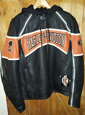 orig harley davidson 2 in 1 lederjacke f r damen gr xl. Black Bedroom Furniture Sets. Home Design Ideas