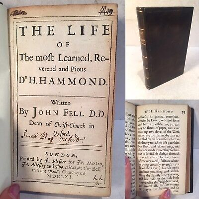 Life of The most Learned, Reverend and Pious Dr H. Hammond. John Fell. 1661. 1st