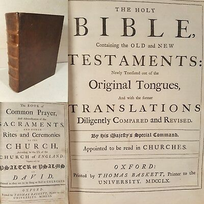Church of England.Holy Bible, Containing the Old and New Testaments. 1760.