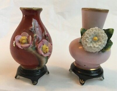 Set Of Two Mini Flower Vases Made In Occupied Japan