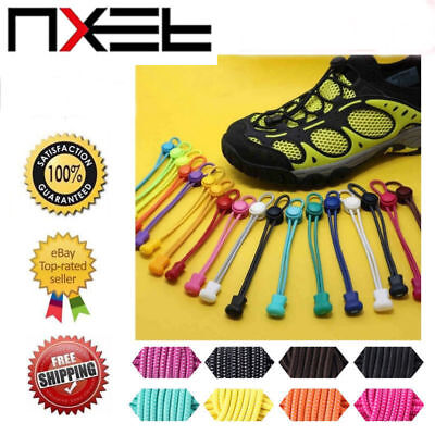 New No Tie Shoelaces Elastic Silicone Shoe Lace Sporting Sneaker Lazy Safety