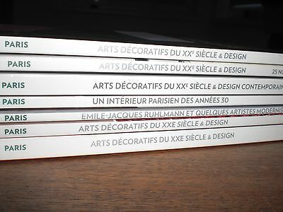 7   x  INTERESSANTE AUKTIONSKATALOGE.  ART  DECORATIFS  XXe  SIECLE  &    DESIGN