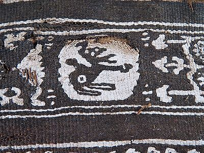 """Ancient EGYPTIAN 5th to 6th century COPTIC linen TEXTILE 11 3/4 x 4"""""""