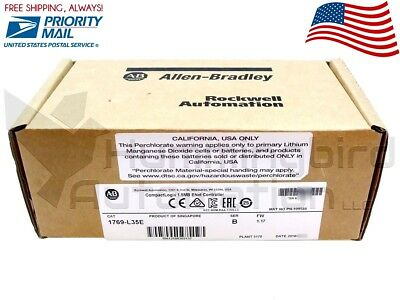 2017 NEW *SEALED* Allen Bradley 1769-L35E /B FW 1.17 CompactLogix Ethernet