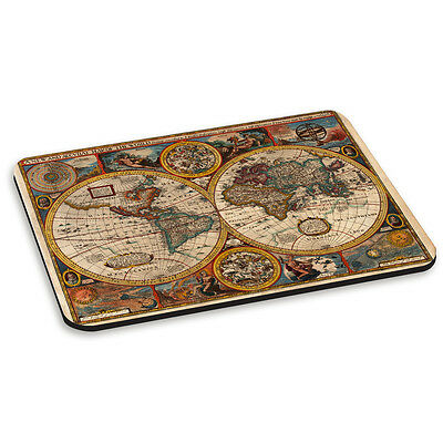 Vintage Old World Map #3 Round Globes Retro PC Computer Mouse Mat Pad
