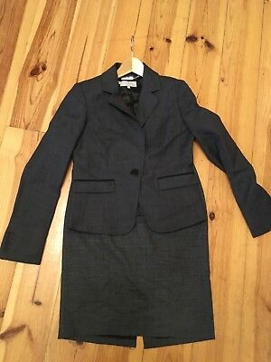 Hobbs skirt suit - size 10. Grey/brown check pattern.