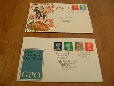 England  F-D Covers-Definitive Issue 1968 / Definitive Issue 1969