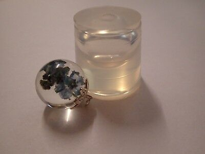 Clear silicone mould for resin jewellery 16 mm sphere