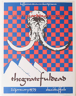 ** GRATEFUL DEAD ** Concert Poster Shea's Buffalo - Excellent - second printing