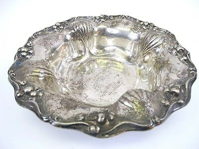 Beautiful Large Antique Sterling Silver .925 Bowl Dish 542 Grams
