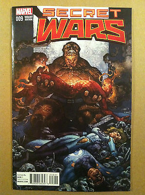 Secret Wars (2015) #9 Simone Bianchi 1:25 Variant Cover Nm First Printing