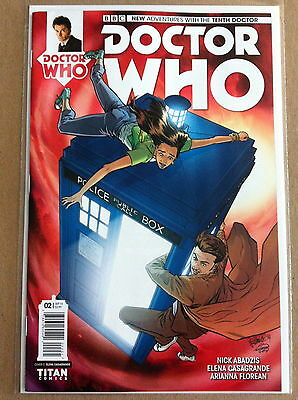 DOCTOR WHO 10th (2014) #2 C 1:10 VARIANT COVER by ELENA CASAGRANDE TITAN NM-