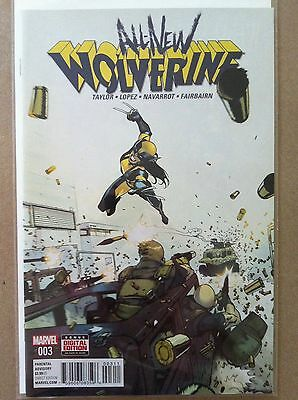 All-New Wolverine #3 Bengal Cover A Tom Taylor David Lopez X-23 Nm 1St Printing