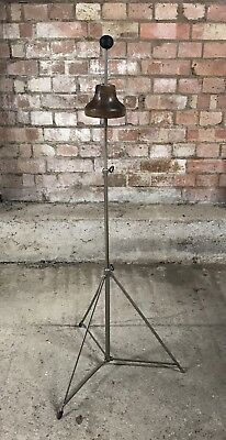 Fabulous Vintage Trombone Stand On Adjustable Metal Tripod Stand