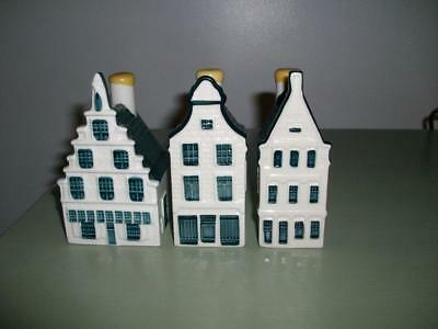 KLM Bols Delft Houses -  Numbers 29, 30, 31 - Sealed With Contents.