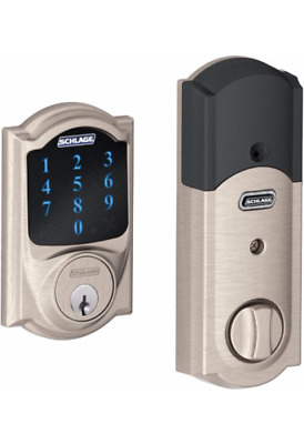 Schlage Connect Electronic Deadbolt, Camelot, Satin Nickel