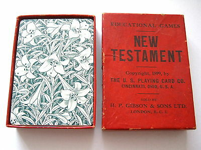 Uspcc Gibsons Games New Testament Card Game Antique Playing Cards 13X4 Sets 1899