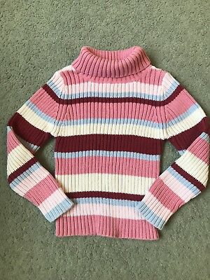 Baby Girls Stripe Roll Neck Knitted Autumn Winter Jumper Top 12-18 Months