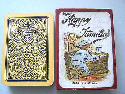 Happy Families Antique Playing Cards Game Robert Bros 1920 Tommy Atkins 9 X4Sets