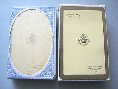 SCOTCH WHISKY HOLTS MOUNTAIN CREAM DUTY SEALED VINTAGE PLAYING CARDS 1940s
