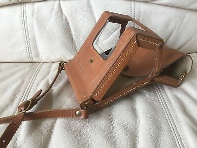 Genuine Polaroid Sx-70 Folding Leather Ever-Ready Case Great Shape-Ships Today