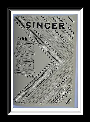 SINGER Models 7146 & 7186  sewing machine instruction Manual Booklet No Machine