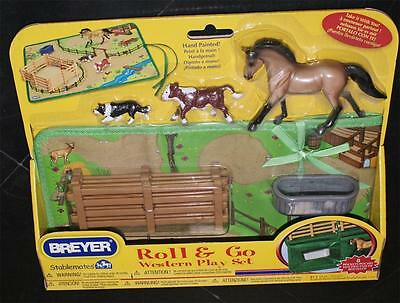 neuf CLASSICS COLLECTION Horse cheval BREYER ROLL & GO  WESTERN PLA échelle 1:32