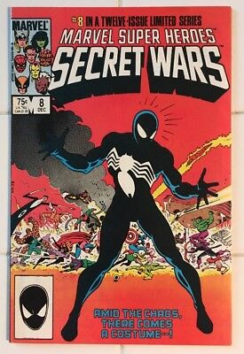 Secret Wars #8! 1st Appearance of Spider-Man Black Suit! Gorgeous Key Book!
