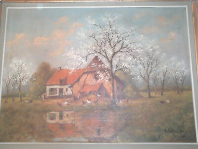 Schouten P. H. Oil On Canvas - Tableau - Signe - Signed !!! Rare Suberbe !!!