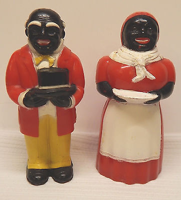 Set of Vintage Black Americana Aunt Jemima & Uncle Mose Salt & Pepper Shakers
