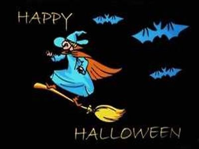 HAPPY  HALLOWEEN HEXE FLEDERMAUS FLAGGE FAHNE 90 x 150 cm NEU/OVP