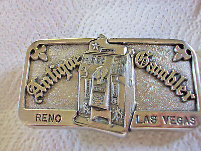 Cast Jennings One Star Hunting Scene Slotmachine Belt Buckle, Reno Las Vegas